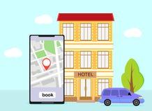 Boekend hotel, ruimte, royalty-vrije illustratie