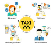 Boekende taxi Stock Afbeelding