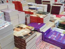 Boekenmarkt in Tangerang Stock Foto's