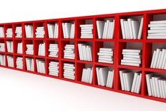 Boekenplanken, bibliotheek Stock Foto's