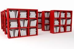 Boekenplanken, bibliotheek Stock Afbeelding