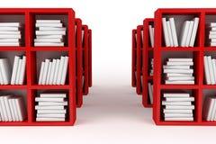 Boekenplanken, bibliotheek Stock Fotografie