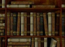 Boekenrek in bibliotheek stock illustratie