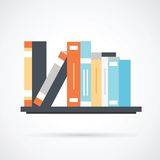 Boekenrek met boeken Royalty-vrije Stock Afbeelding
