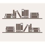 Boekenrek met boeken Stock Afbeelding