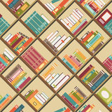 Boekenrek met boeken Naadloze Achtergrond Royalty-vrije Stock Fotografie