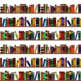 Boekenrekpatroon Royalty-vrije Stock Afbeeldingen