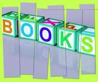 Boekenword toont Romansnon-fictie en Lezing vector illustratie