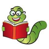 Boekenwurm vector illustratie