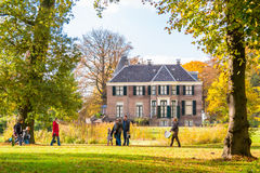 Boekesteyn and people in autumn, Netherlands Royalty Free Stock Photo