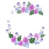 Boeket en een kroon van mooie bloemen Royalty-vrije Stock Afbeelding