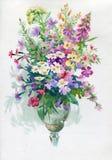 Boeket met de Bloemen van Camomiles en Dianthus- royalty-vrije illustratie