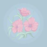 Boeket met roze bloemen Stock Foto