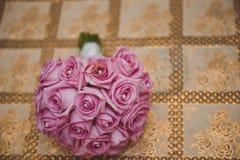Boeket met rozen en ringen 1871 Royalty-vrije Stock Foto's