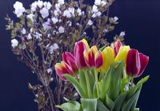 Boeket met tulpen stock afbeelding