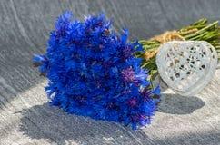 Boeket van blauwe korenbloemen Royalty-vrije Stock Foto