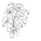 Boeket van bloemen royalty-vrije illustratie