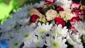 Boeket van bloemen stock videobeelden