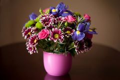 Boeket van bloemen Royalty-vrije Stock Afbeeldingen