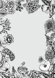 Boeket van bloemen De kaart van het huwelijk Stock Foto