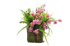 Boeket van bloemen in een vaas Stock Afbeelding