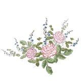 Boeket van bloemen, op witte backgrond Stock Afbeelding
