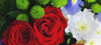 Boeket van bloemen, panorama royalty-vrije stock afbeeldingen