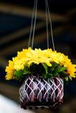 Boeket van bloemen in potten royalty-vrije stock foto