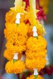 Boeket van bloemen in potten stock afbeelding