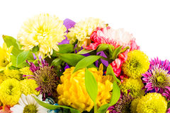 Boeket van bloemen in verschillende kleuren stock fotografie