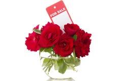 Boeket van bloemen voor verkoop Royalty-vrije Stock Foto's