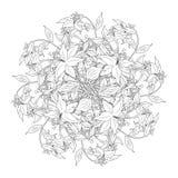Boeket van bloemen in zwart-witte kleuren, vectorillustratio royalty-vrije illustratie