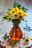 Boeket van chrysant stock foto's