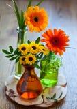 Boeket van chrysant en gerbera royalty-vrije stock foto's