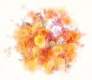 Boeket van de achtergrond van de de kleurenstijl van het rozenwater Royalty-vrije Stock Foto's