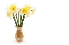 Boeket van de lentebloemen in vaas Royalty-vrije Stock Foto's