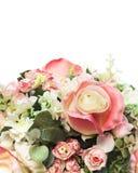 Boeket van geïsoleerdel rozen Stock Foto's