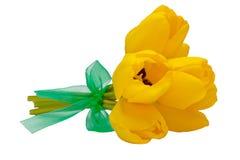 Boeket van gele bloemen Stock Afbeeldingen