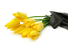Boeket van gele bloemen stock foto