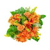 Boeket van gemengde oranje bloemen Royalty-vrije Stock Afbeeldingen