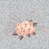 Boeket van gevoelige bloemen Stock Afbeelding
