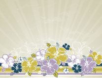 Boeket van hibiscus, vector royalty-vrije illustratie