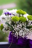 Boeket van huwelijksbloemen Stock Foto