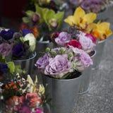 Boeket van kleurrijke de lentebloemen stock foto