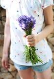 Boeket van lavendel Royalty-vrije Stock Foto's