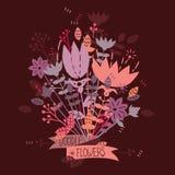 Boeket van leuke bloemen Royalty-vrije Stock Foto
