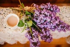 Boeket van lilac hoogste mening Royalty-vrije Stock Foto's