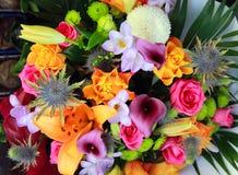 Boeket van mooie bloemen Stock Afbeeldingen