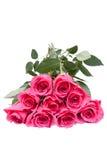 Boeket van mooie roze rozen Stock Afbeeldingen