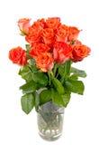 Boeket van mooie verse rode rozen Stock Afbeeldingen